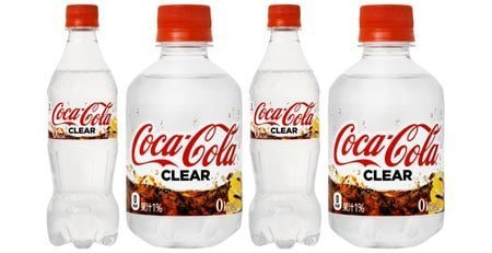 Bottles of Clear Coca Cola