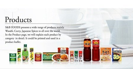 About S&B products Curry Sauce Spice