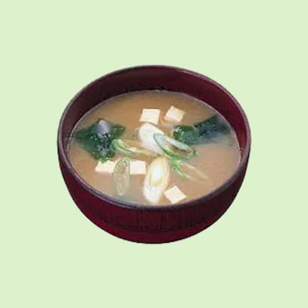 Bowl of Amano Miso Soup Green Onion
