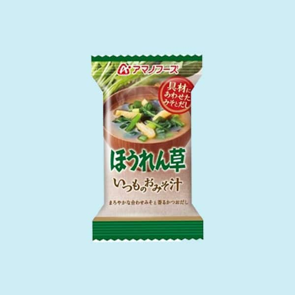 Pack of Amano Miso Soup Spinach