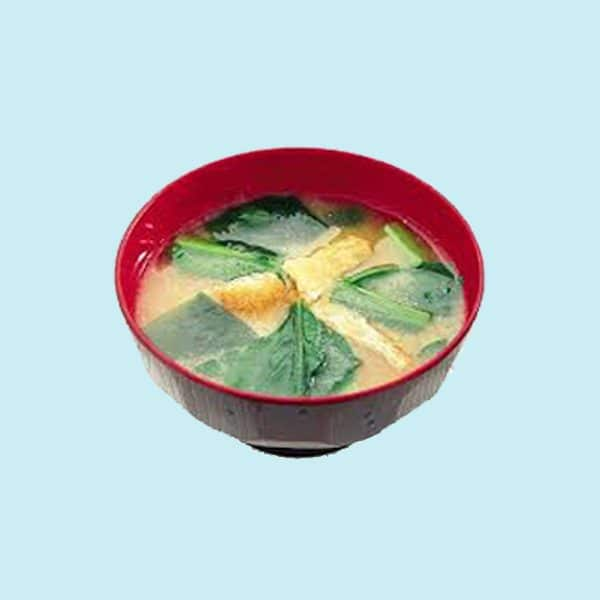 Bowl of Amano Miso Soup Spinach