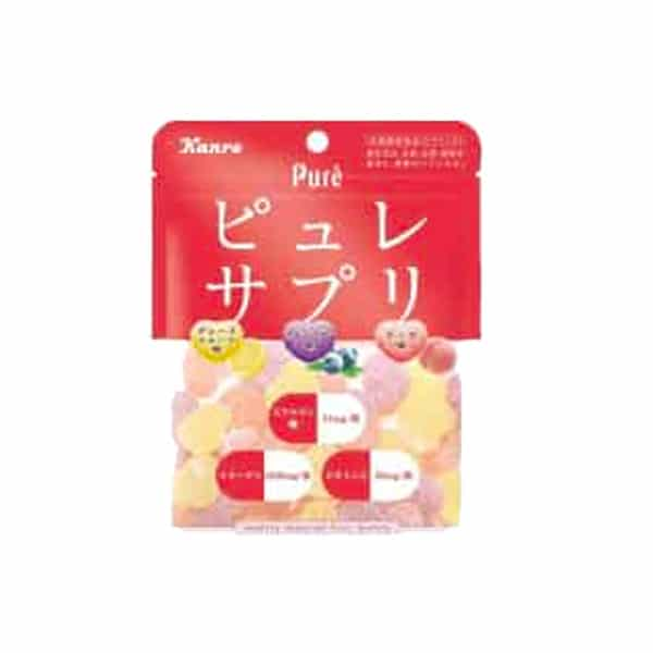 Pack of Kanro Pure Gummy Assorted Fruit