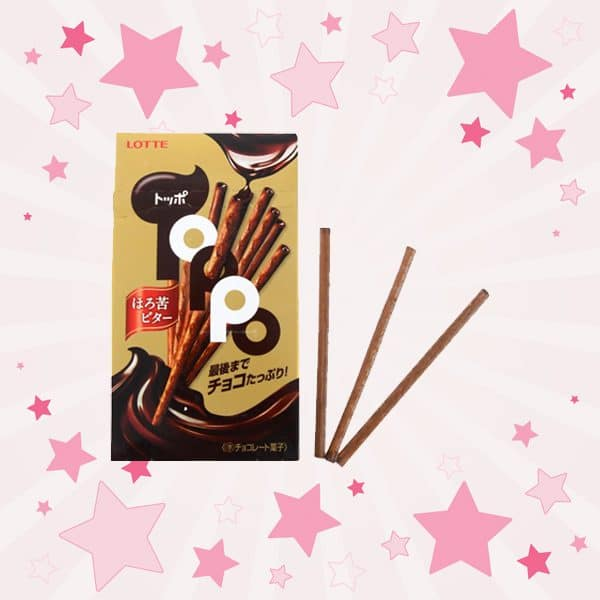 Box and Sticks of Lotte Toppo Black Chocolate