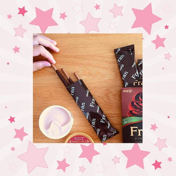 Sticks of Meiji Fran Double Chocolate