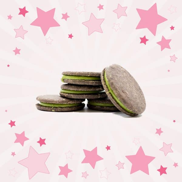 Pieces of Meiji Rich Matcha Biscuit