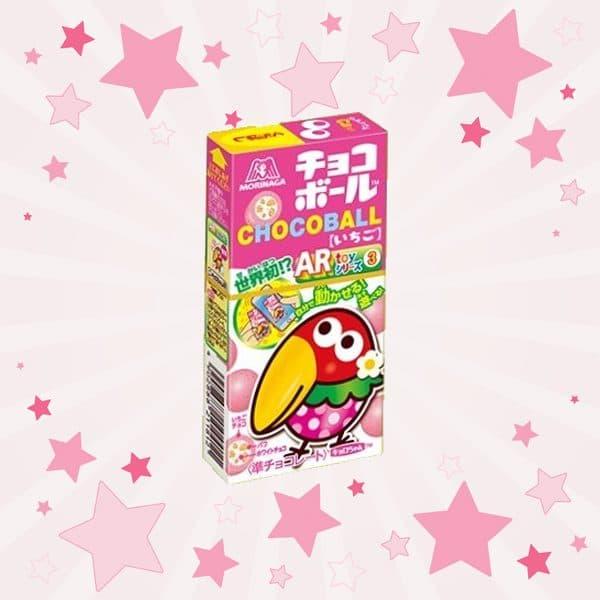 Box of Morinaga Choco Ball Strawberry