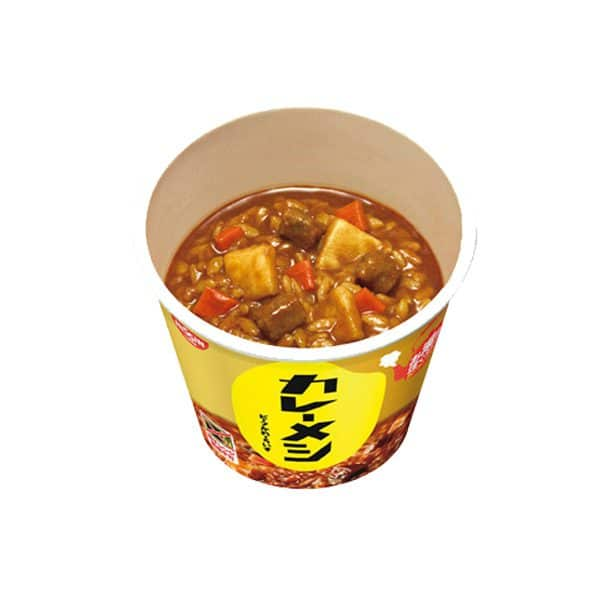 Open Pack of Nissin Curry Meshi Beef
