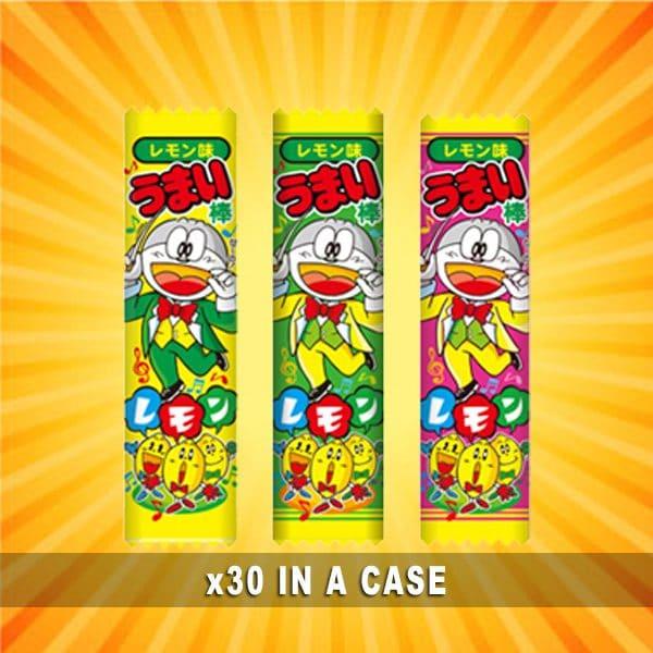 Yaokin Umaibo Lemon 30 in a case