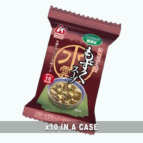 Amano Miso Soup Mozuku 10 in a case