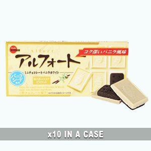 Bourbon Alfort Vanilla White 10 in a case