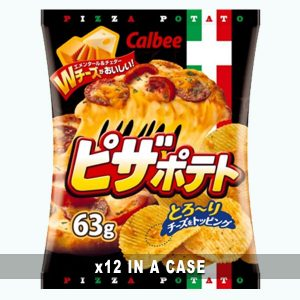 Calbee Pizza Potato Chips 12 in a case