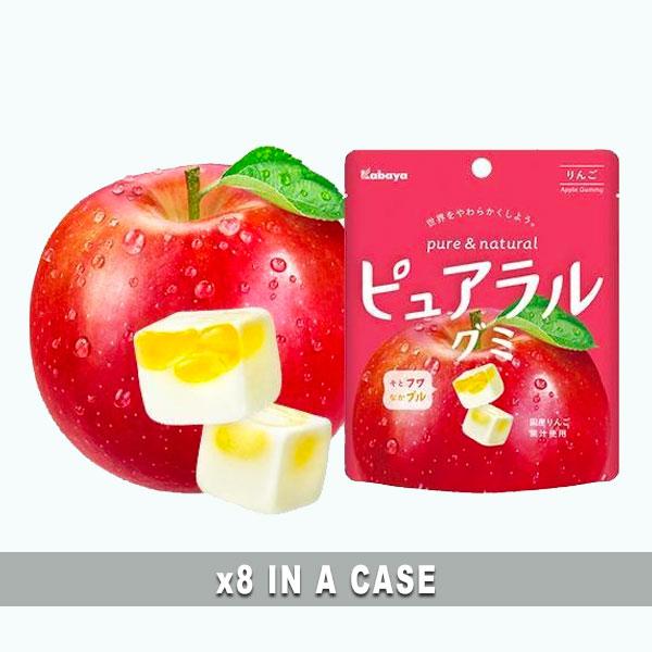 Kabaya Pureral Apple Gummy 8 in a case
