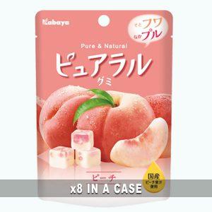 Kabaya Pureral Peach Gummy 8 in a case