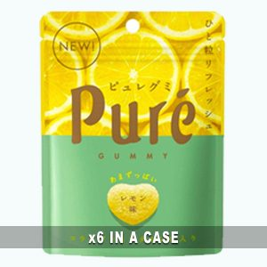 Kanro Pure Gummy Lemon 6 in a case