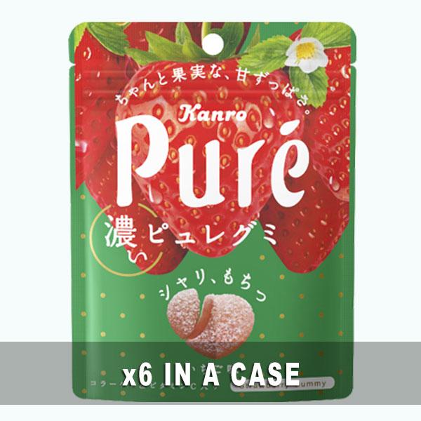 Kanro Pure Gummy Strawberry 6 in a case