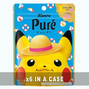 Kanro Pure Gummy Tropical Fruit & Soda 6 in a case