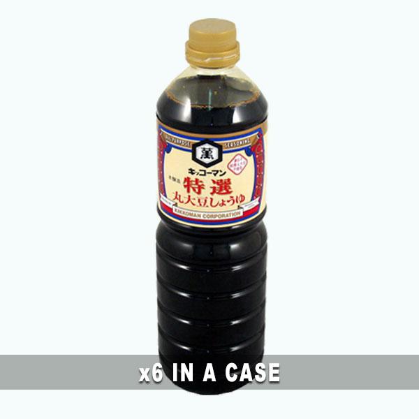 Kikkoman Marudaizu Soy Sauce 6 in a case