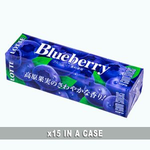 Lotte Blueberry Gum 15 in a case