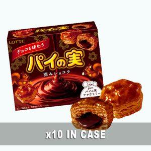 Lotte Pie No Mi Chocolate Ajiwa 10 in a case