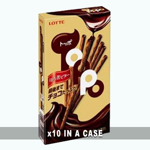 Lotte Toppo Black Chocolate 10 in a case