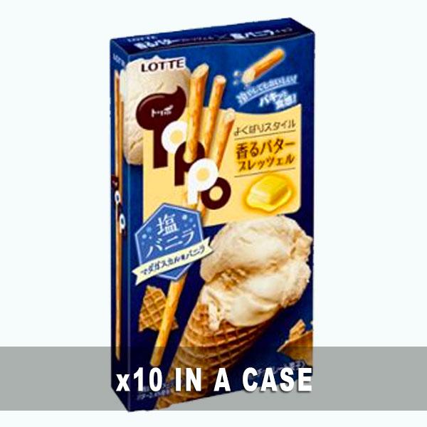 Lotte Toppo Salty Vanilla 10 in a case