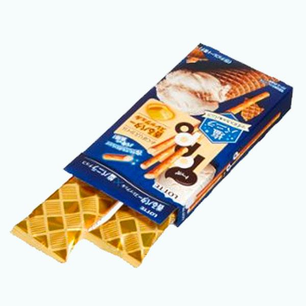 Lotte Toppo Salty Vanilla open box