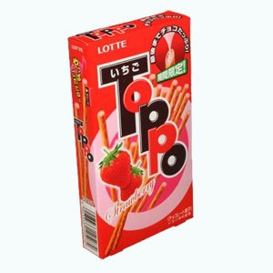 Lotte Toppo Strawberry Chocolate