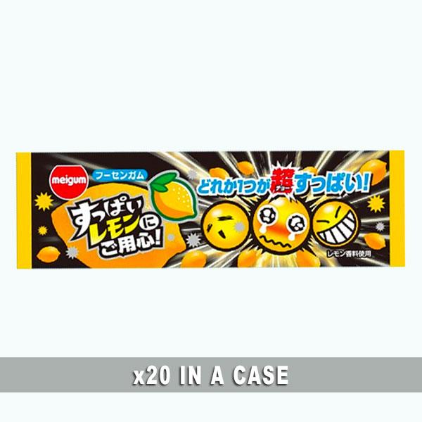 Meigum Bubble Gum Sour Lemon 20 in a case