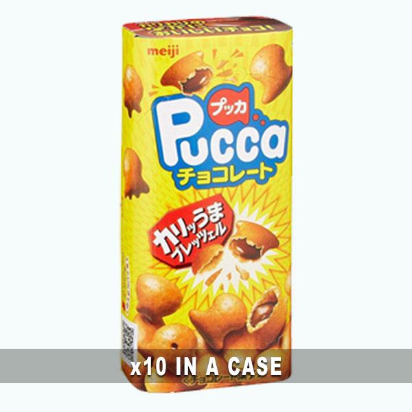 Meiji Pucca Chocolate 10 in a case