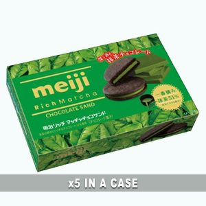 Meiji Rich Matcha Biscuit 5 in a case