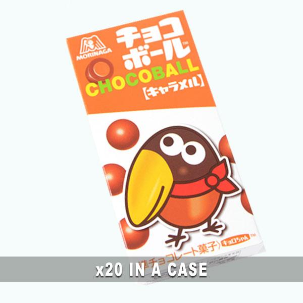 Morinaga Chocoball Caramel 20 in a case