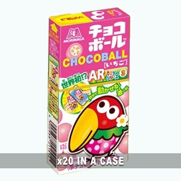 Morinaga Choco Ball Strawberry 20 in a case