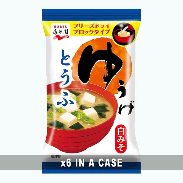 Nagatanien Miso Soup Tofu 6 in a case