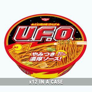 Nissin Yakisoba U.F.O 12 in a case