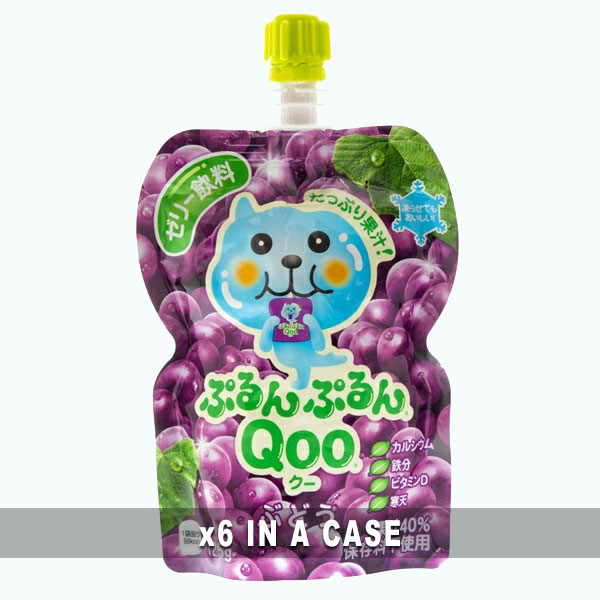 Qoo Grape Jelly Drink 6 in a case
