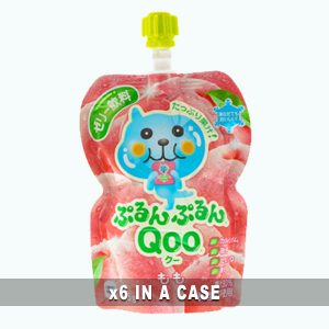 Qoo Peach Jelly Drink 6 in a case