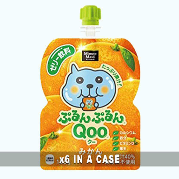 Qoo Tangerine Jelly Drink 6 in a case