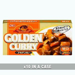 S&B Golden Curry 10 in a case