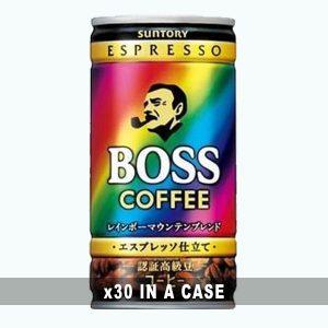 Suntory Espresso Boss Rainbow 30 in a case