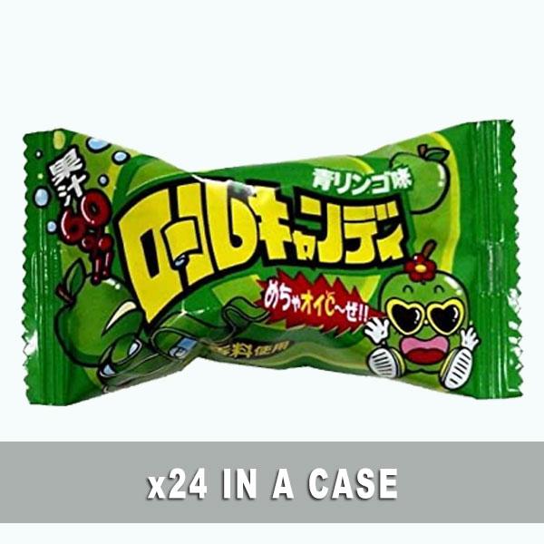 Yaokin Roll Candy Green Apple 24 in a case